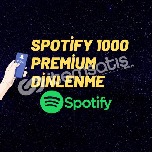 SPOTİFY 1000 PREMİUM DİNLENME/ANLIK GÖNDERİM/