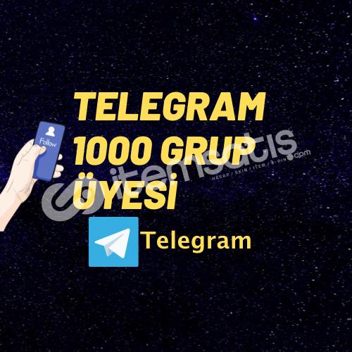 TELEGRAM 1000 GRUP ÜYESİ/ANLIK GÖNDERİM/GARENTİ