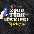 İNSTAGRAM 2000 TÜRK TAKİPÇİ/ANLIK GÖNDERİM