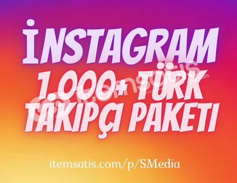 1.000 İnstagram [%100] Türk Takipçi Paketi