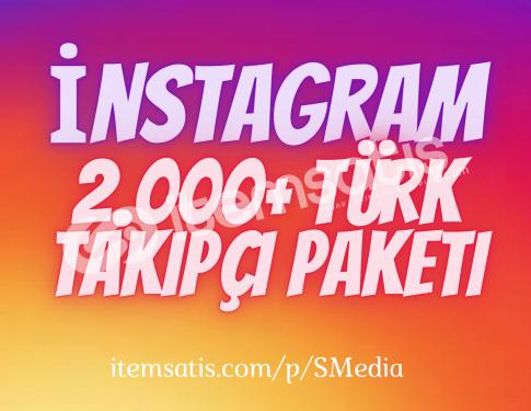 2.000 İnstagram [%100] Türk Takipçi Paketi