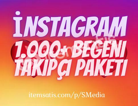1.000 İnstagram Beğeni Paketi / Anlık Gönderim