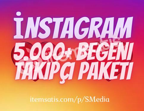 5.000 İnstagram Beğeni Paketi / Anlık Gönderim