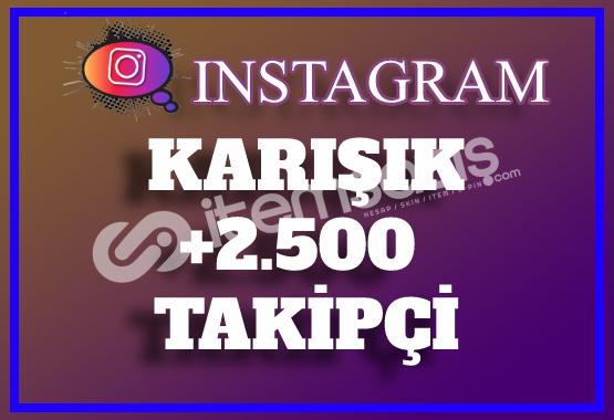 2.500 Instagram Karışık Takipçi | Hemen Teslim
