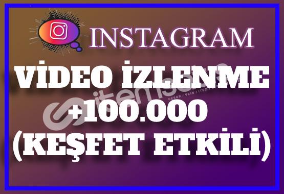 100.000 Instagram Video İzlenme | Keşfet Etkili