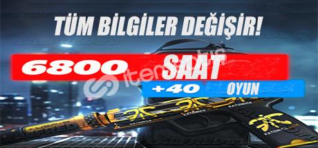 CS:GO 5900 SAAT + 40 ADET OYUN + İLK MAİL!