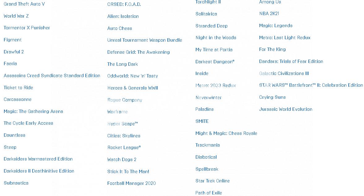 70 Oyunlu Epic Games + 20 Oyunlu Steam Hesapp 120 TL