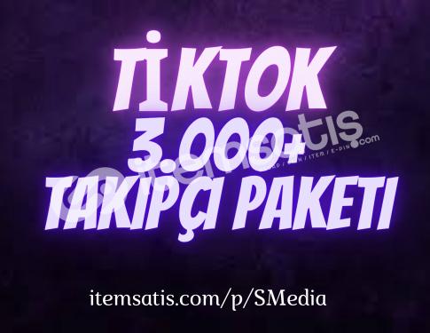 3.000 TikTok Takipçi Paketi