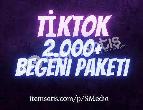2.000 TikTok Beğeni Paketi