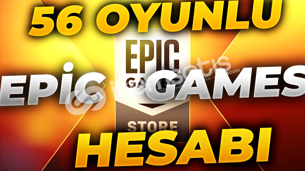 MAİLSİZ 56 OYUNLU EPİC GAMES HESABI (PATORON ÇILDIRDI) 10 TL