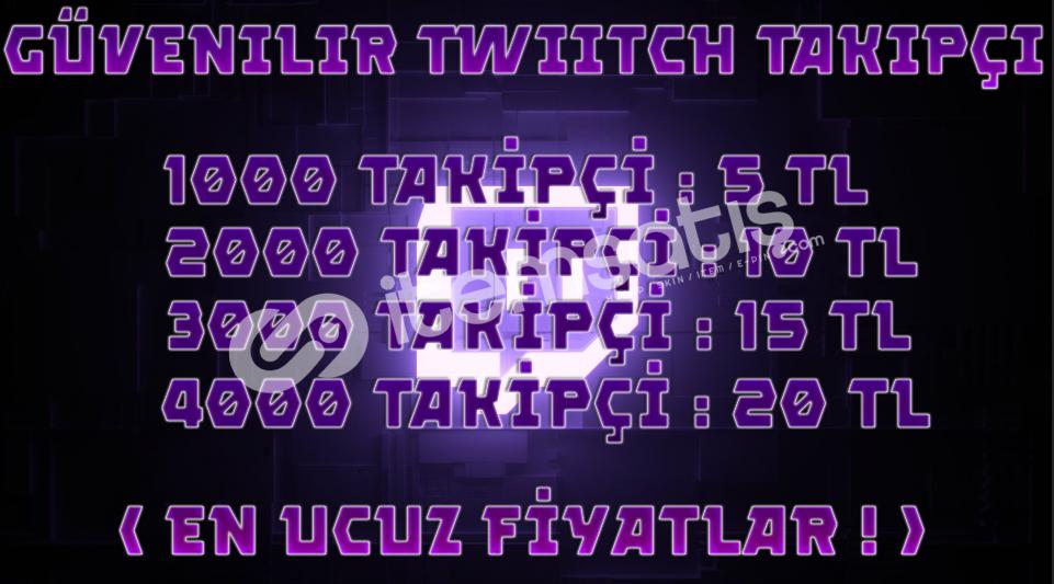 1000 Twitch Takipçi İNDİRİM