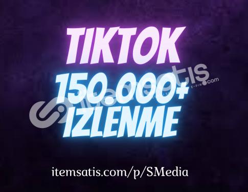 150.000 TikTok izlenme Paketi (Keşfet Etkili)
