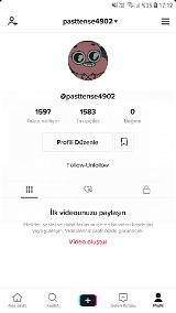 Tiktok 1000 takipçili hesap
