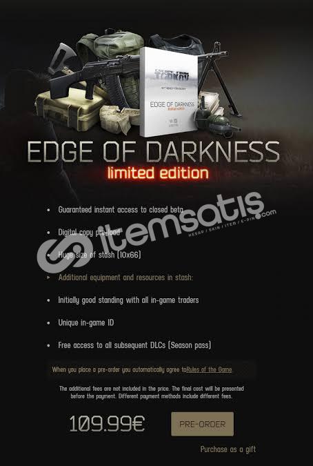 Escape from tarkov edge of darkness