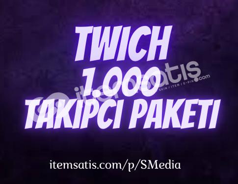 1.000 Twitch [Ömür Boyu Garantili] Takipçi Paketi