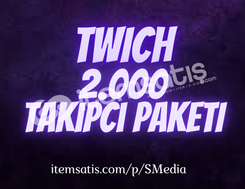 2.000 Twitch [Ömür Boyu Garantili] Takipçi Paketi