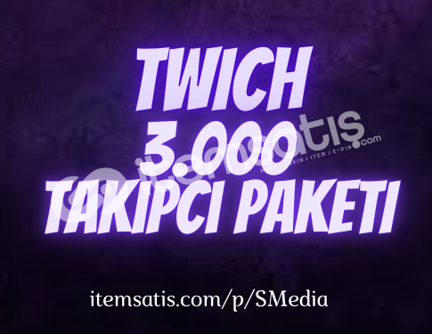3.000 Twitch [Ömür Boyu Garantili] Takipçi