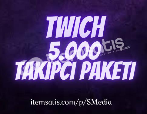 5.000 Twitch [Ömür Boyu Garantili] Takipçi Paketi
