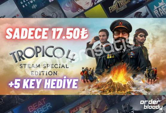 Tropico 4 PC Key (+5 Key 15-50₺ Arası) 17.50TL