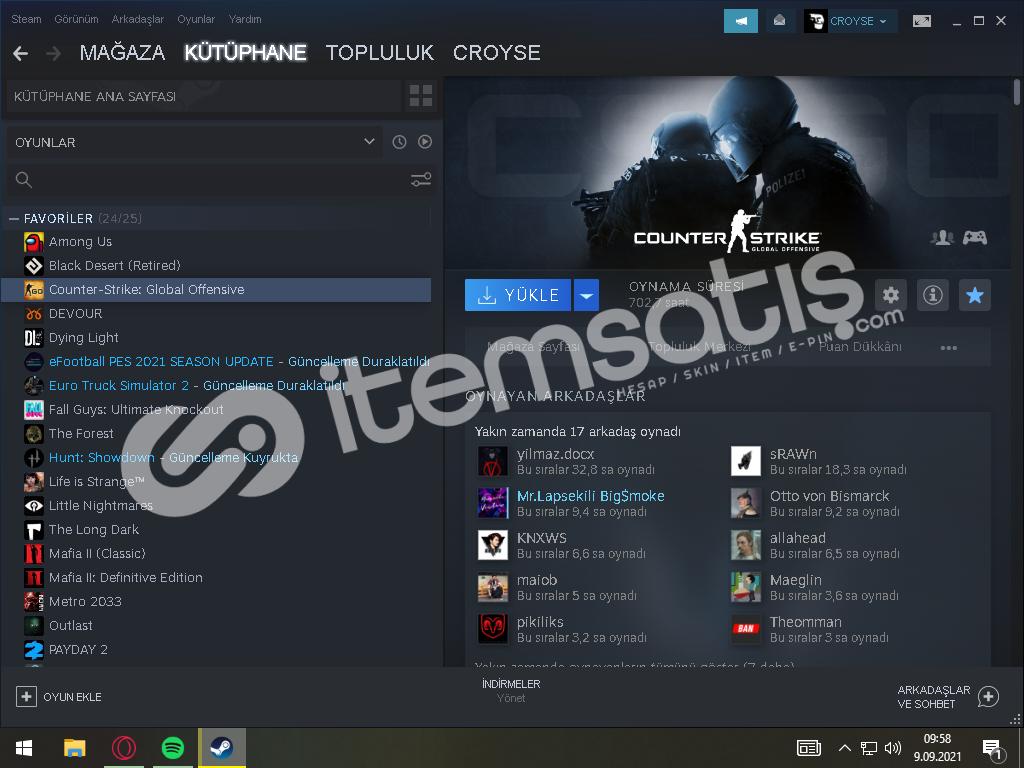 Satılık Steam Hesabı CS:GO için kullanılabilir
