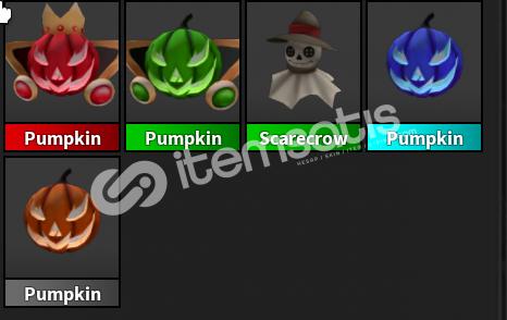 mm2 Pumpkin Pet Set