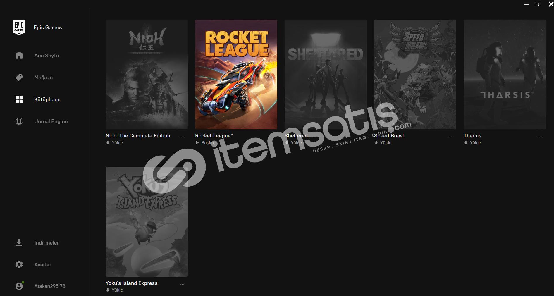 Epic Games 363 TL Hesap!!!