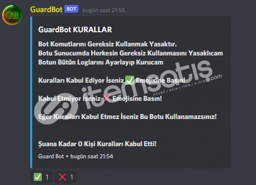 Public Guard Kayıt Moderatör Bot Altyapı