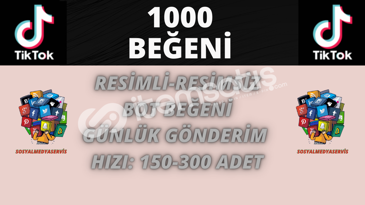 TİKTOK 1000 BEĞENİ | KEŞFET ETKİLİ | 10 TL