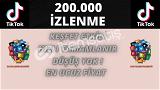 TİKTOK 200.000 İZLENME   KEŞFET ETKİLEŞİMLİ   6 TL