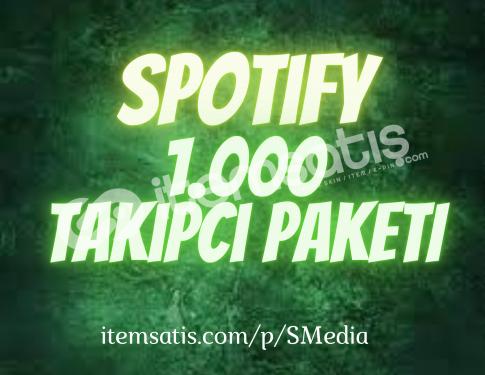 1.000 Spotify Takipçi Paketi (30 Gün Telafili)