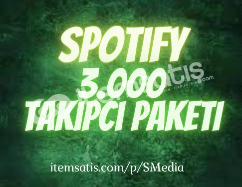 3.000 Spotify Takipçi Paketi (30 Gün Telafili)