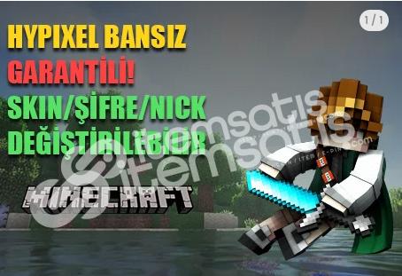 ✅Minecraft Altın Hesap [Şifre/Skin/Nick] GARANTİLİ & BANSIZ!