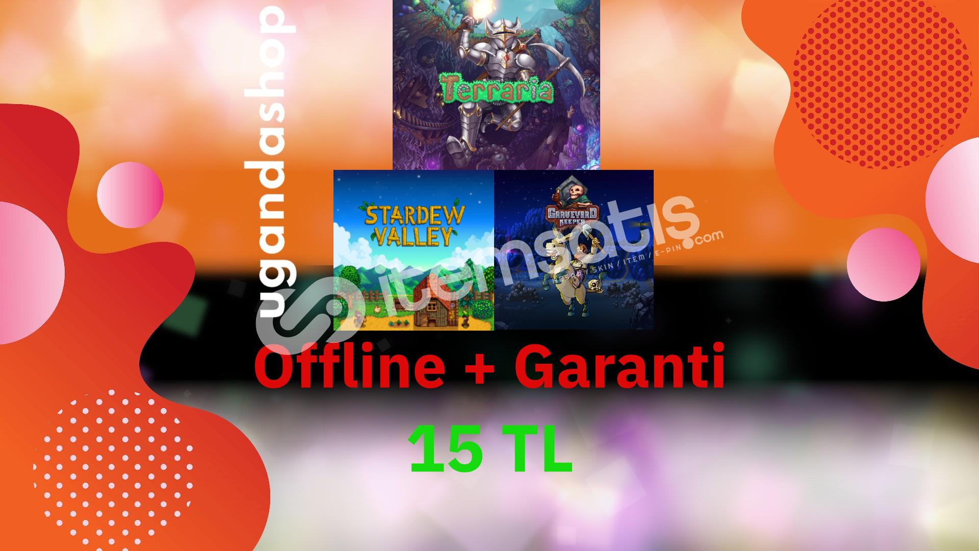 Stardew Valley + Terraria + Graveyard Keeper Offline Steam