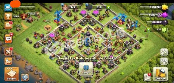bb12 181 level Clash Of Clans Hesabı