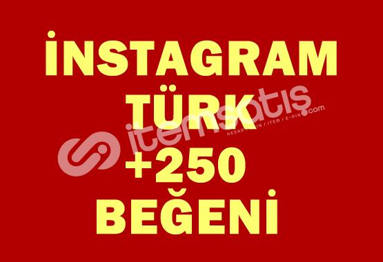 250 TÜRK Beğeni | ANLIK |