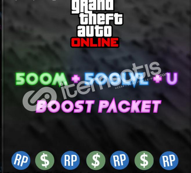 Gta 5 Online (500M + 500lvl + Unlock) Paket