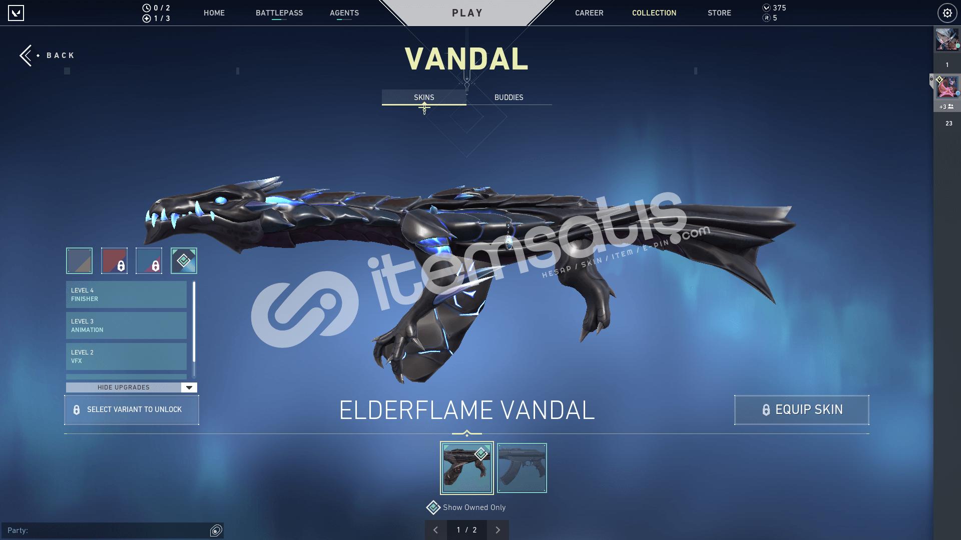 Valorant Gold 2 Ejder Vandal-Ejder Operatör-Anomali Phantom.