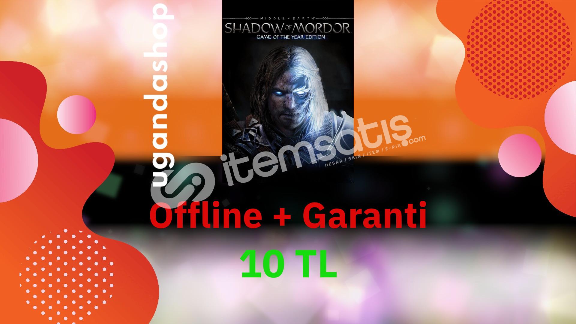 Shadow of Mordor GOTY Edition Offline Steam Hesap + Garanti