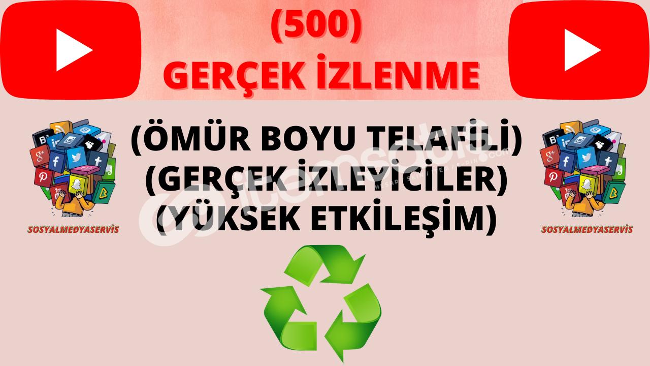 500 GERÇEK-ORGANİK İZLENME |♻️ ÖMÜR BOYU GARANTİ ♻️| 3,50 TL