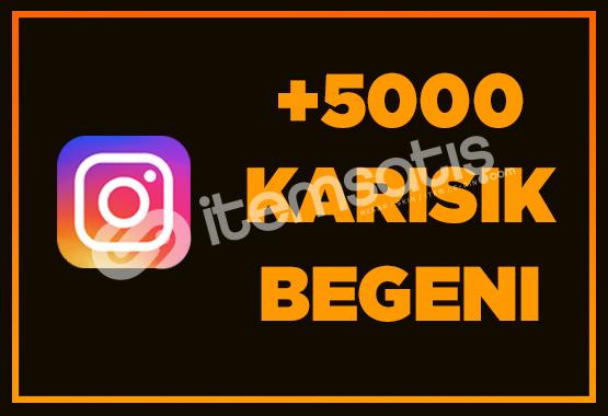 5000 İNSTAGRAM BEĞENİ - ANINDA TESLİMAT