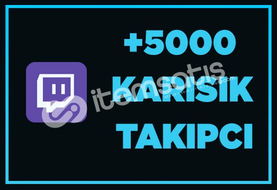 5000 Twitch Takipçi - Hızlı Teslimat.