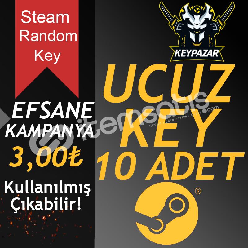 Steam Random Key UCUZ 10 ADET Kullanılmış Çıkab