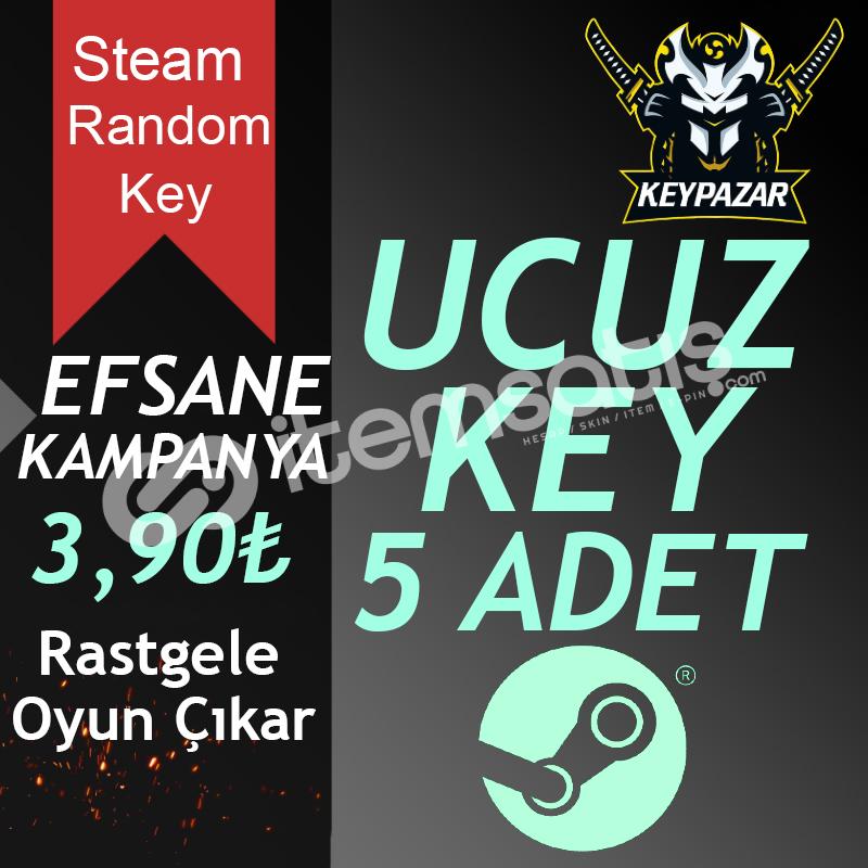 Steam Random Key 10 ADET (EN UCUZ KEY) HEDİYELİ