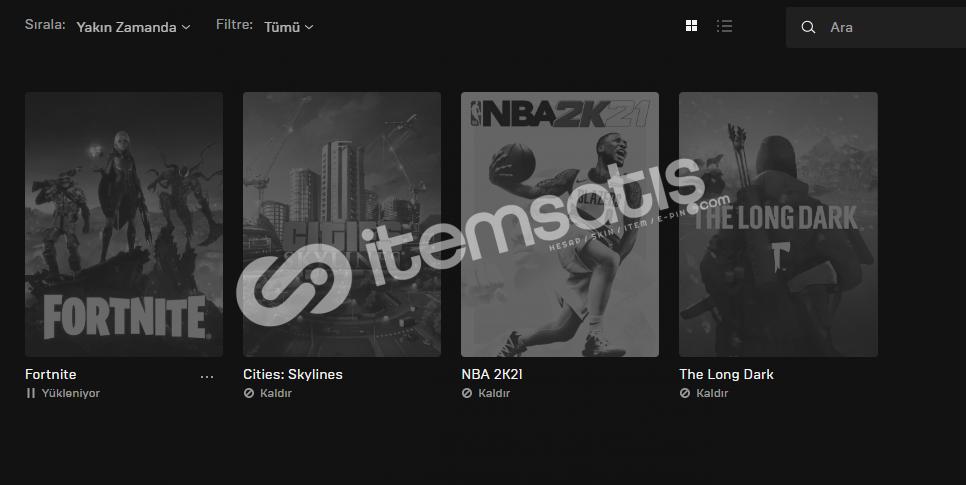 NBA 2K21 - Epic Games Hesabı