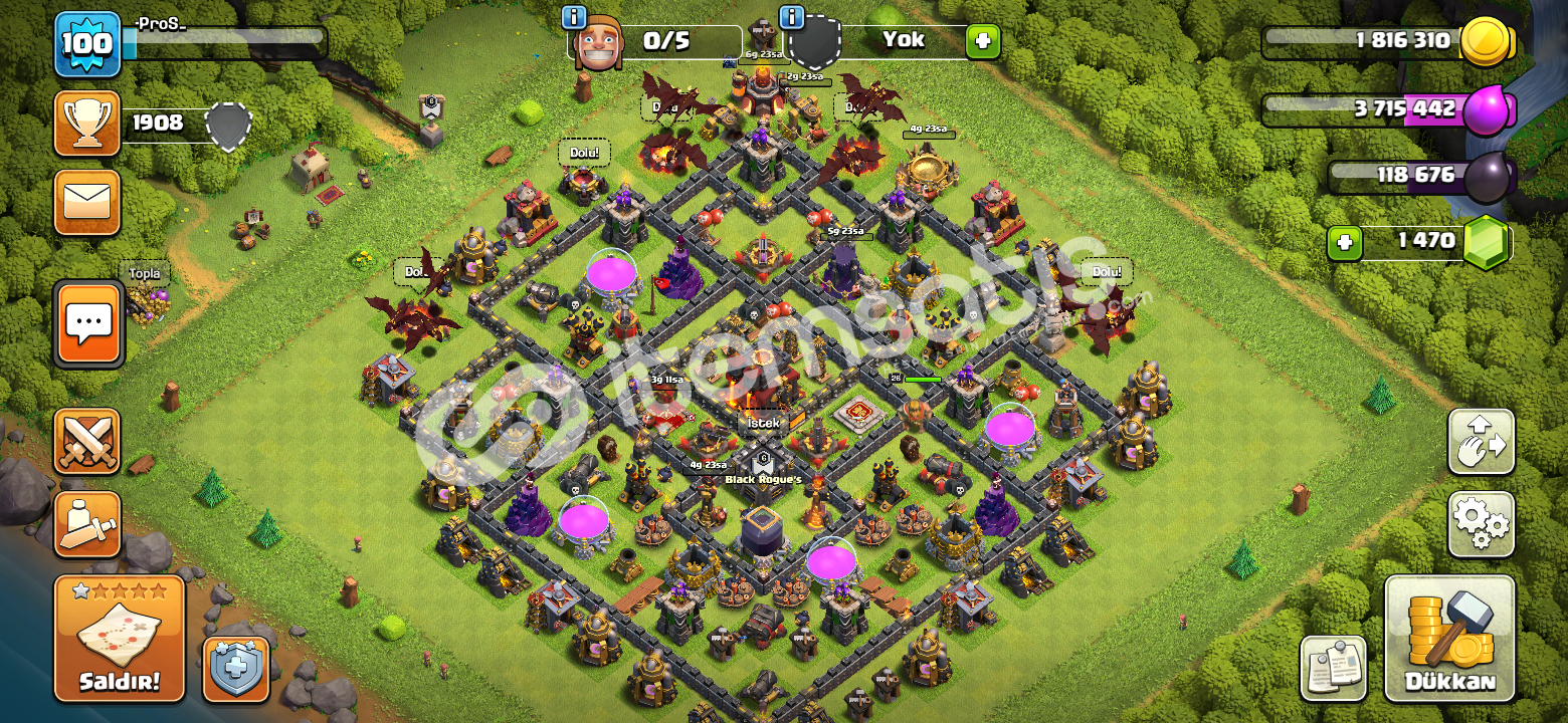 100 Level Bb 10 1450+ Taş
