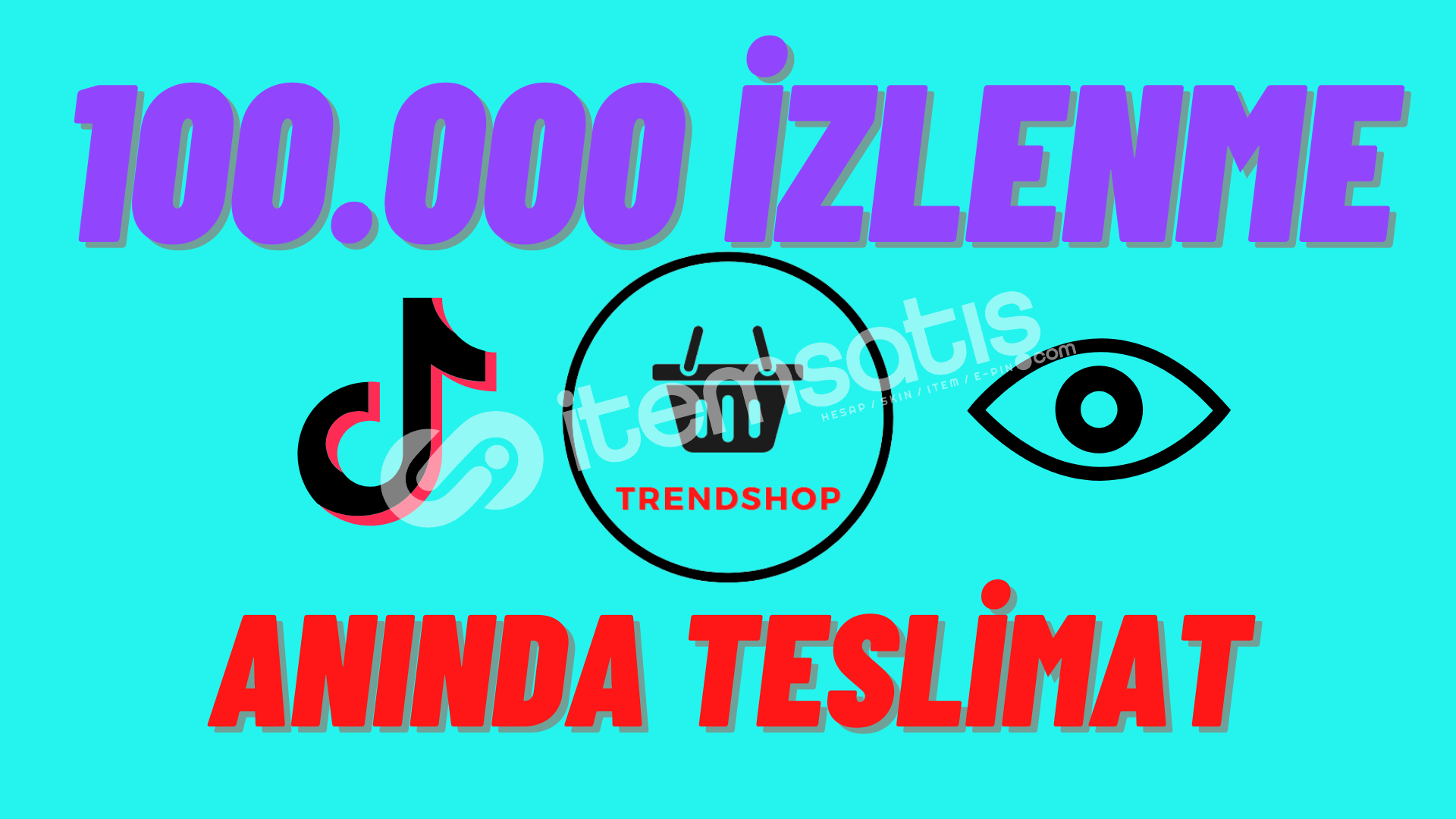 ♫TikTok♫ ♦100.000 İzlenme ♦Express Satıcı♦