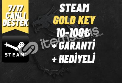 GOLD KEY + GARANTİ + HEDİYELİ (10-100₺)
