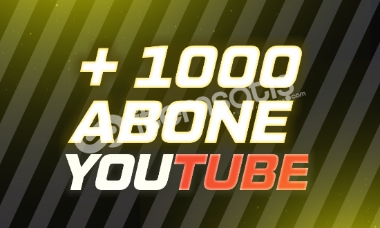 1000 ABONE - YOUTUBE