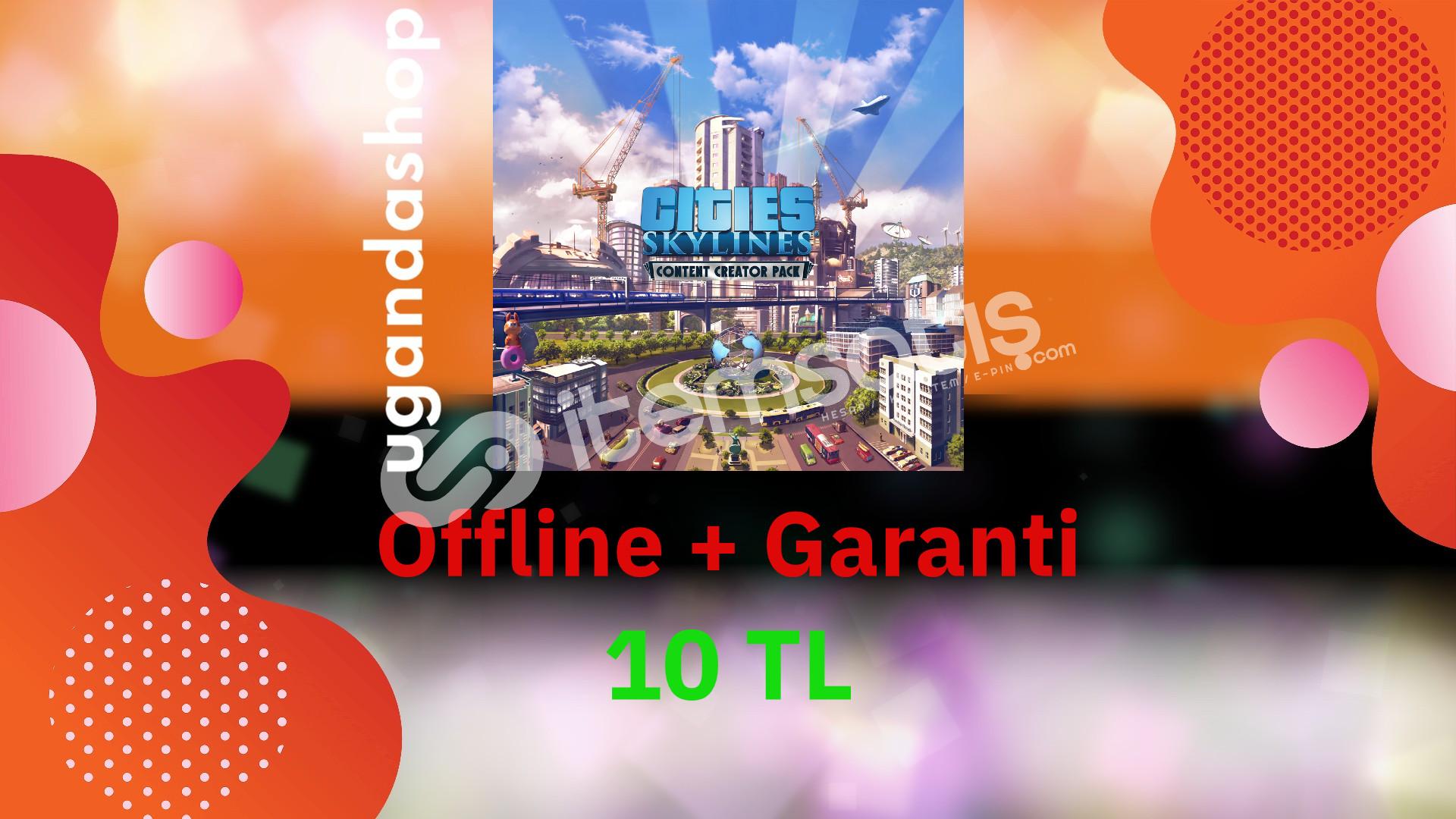 Cities Skylines Offline Steam Hesap + Garanti