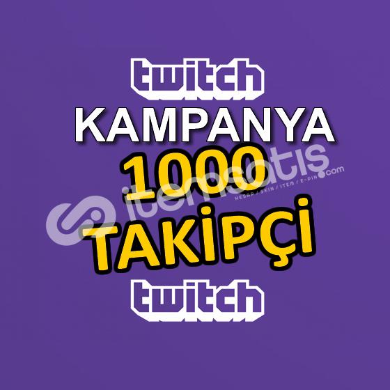1000 TAKİPÇİ - HIZLI TESLİMAT - Twitch